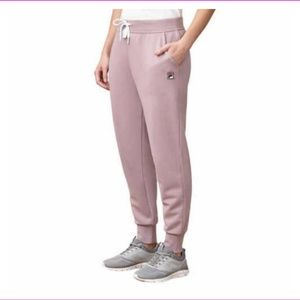 FILA Women's French Terry Joggers Pants Pink XXL